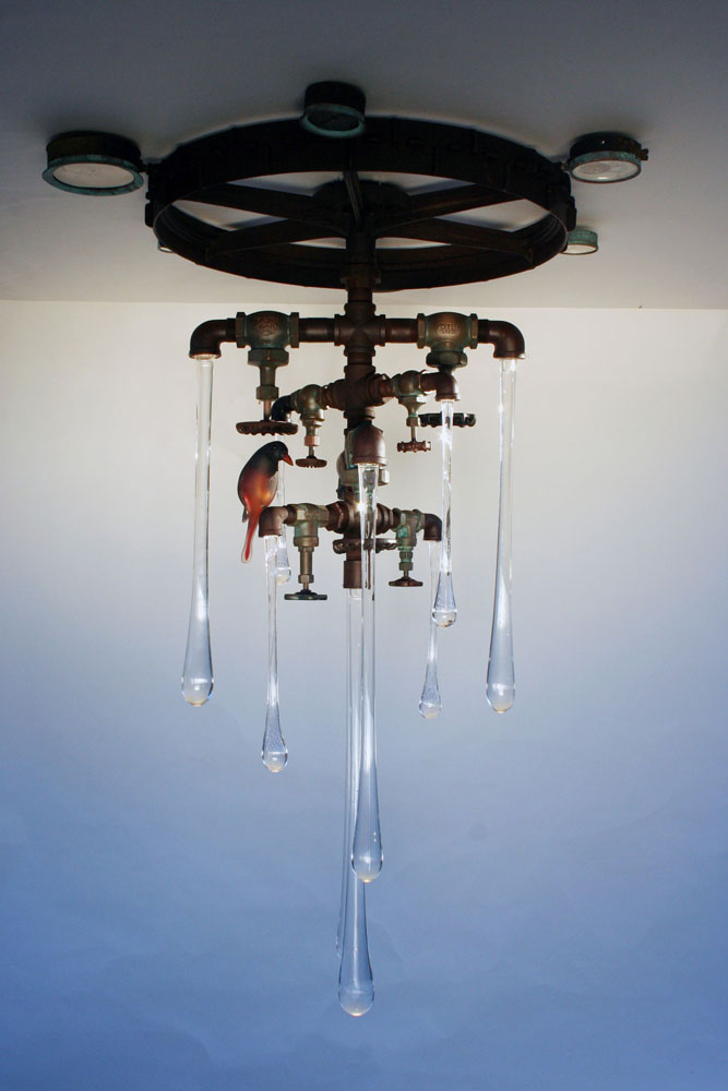 Original liquid light glass custom sconce
