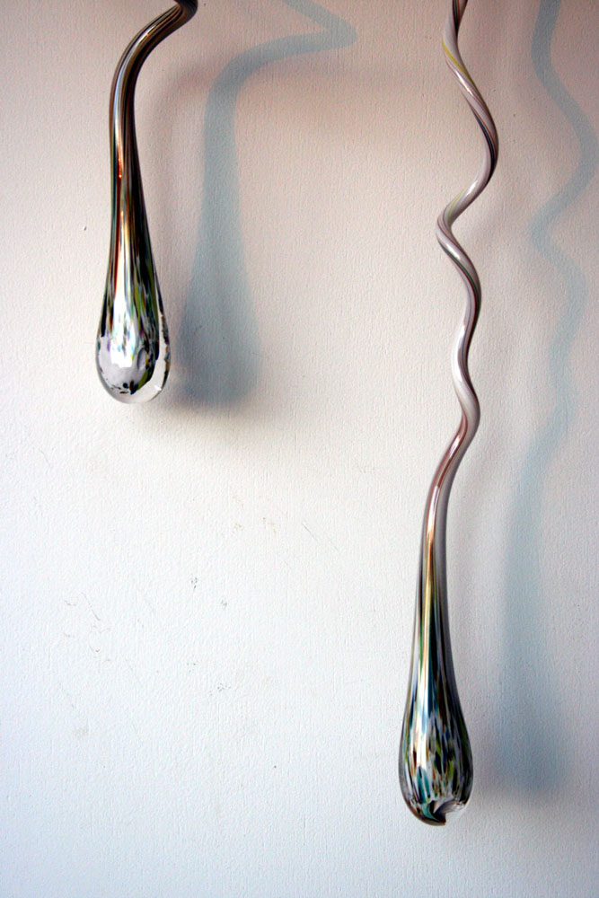 Original liquid light custom blown glass